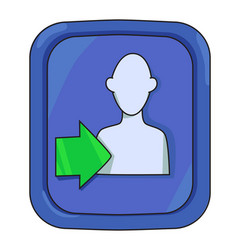 cartoon image of login icon approach symbol vector image