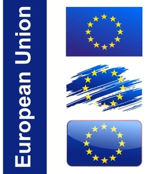 Flag European Union vector image vector image