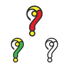 Logo Template Set Question Mark Logotype vector image vector image