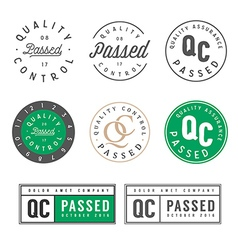 Quality control passed stamps and stickers vector image vector image