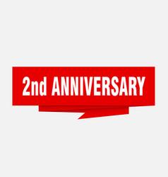2nd anniversary vector