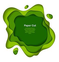 abstract green paper cutout curvy shapes layered vector image