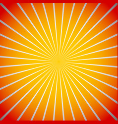 Abstract sunburst beams background with wide rays vector