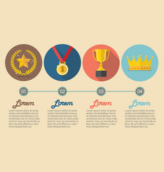 Achievements icon concept infographic vector