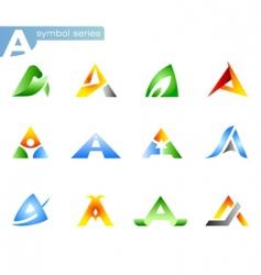 Alphabet a symbols vector
