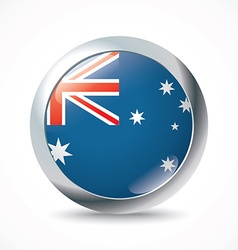 Australia flag button vector image