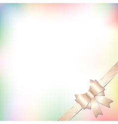background with bow in pastel colors vector image