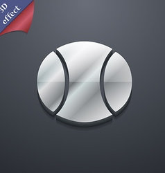 Baseball icon symbol 3D style Trendy modern design vector