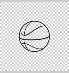 basketball ball icon isolated sport symbol vector image
