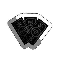 bills dollars isolated icon vector image