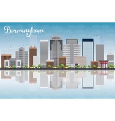 Birmingham alabama skyline vector
