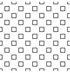 Black and white repeating square pattern vector
