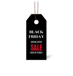 black friday price sticker isolated on white vector image