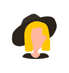 blond woman in hat vector image