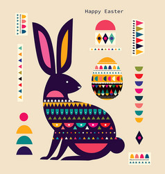 bunny easter vector image
