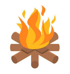 Campfire icon isometric style vector