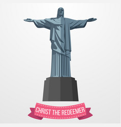 christ the redeemer icon on white background vector image