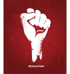 Clenched fist hand Revolution concept vector