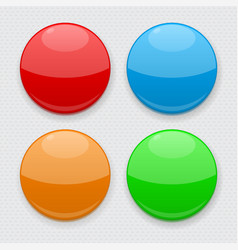 colored round buttons web 3d icons on gray vector image