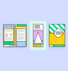 colorful poster or stationary identity design vector image