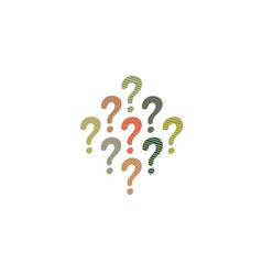 colorful question mark icon isolated on white vector image