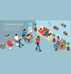 coworking at home background vector image