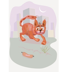 Crazy cat cartoon vector