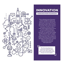 Creative concept of innovation with header a vector