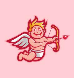 Cupid character cartoon vector