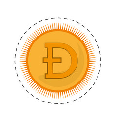 Dogecoin money golden commerce vector
