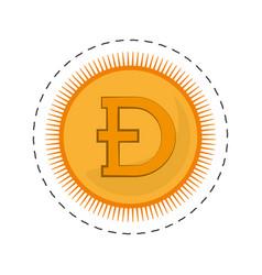 Dogecoin money golden commerce vector