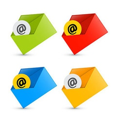 E-mail Email Icons Envelope Icons Set Isolated on vector image