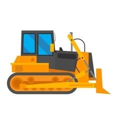 excavator isolated vector image