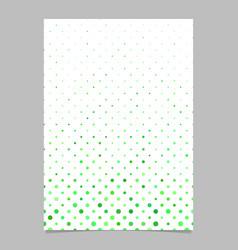 Geometric dot pattern brochure template vector