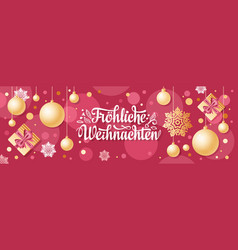 German christmas weihnachten text vector