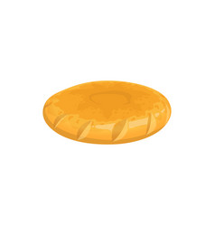 Griddle-cake or pitta bread isolated bun vector
