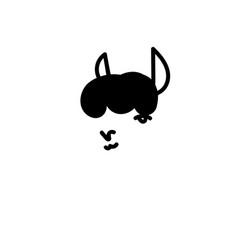 Hand drawn llama vector