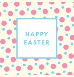 happy easter greeting card with minimal design vector image