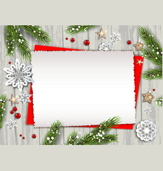 holiday nature template frame vector image