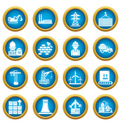 industry icons set simple style vector image
