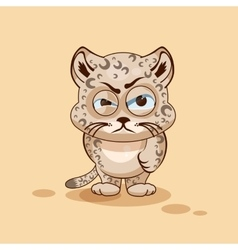 Leopard cub angry vector