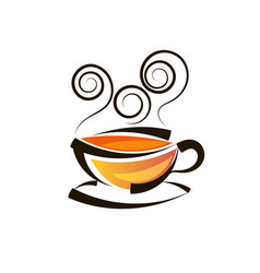logo design tea logo template vector image