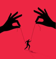 Manipulator concept boss puppet abuse vector