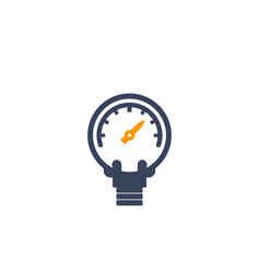 manometer icon on white vector image