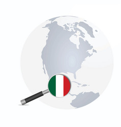 mexico flag in magnifying glass vector image