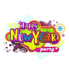 New Year Party banner vector image