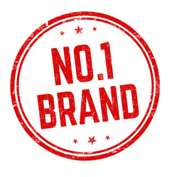 no 1 brand sign or stamp vector image