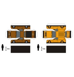 Paper models delivery cars vector