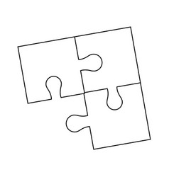 Parts of paper puzzles business concept layout vector