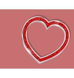 Pendant heart in a frame vector image